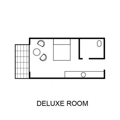 Porters Deluxe Room Floor Plan
